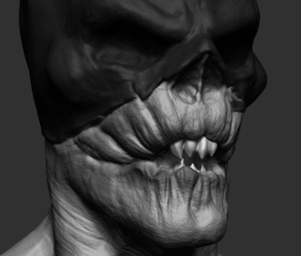 creepy 3d model obj mtl ztl 1