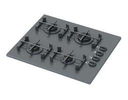 Black Stove Stop 3D model