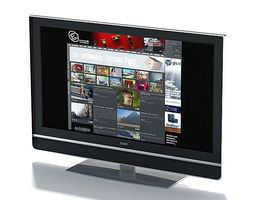 Flat Screen Monitor 3D