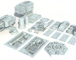 3D Scifi details and greeble