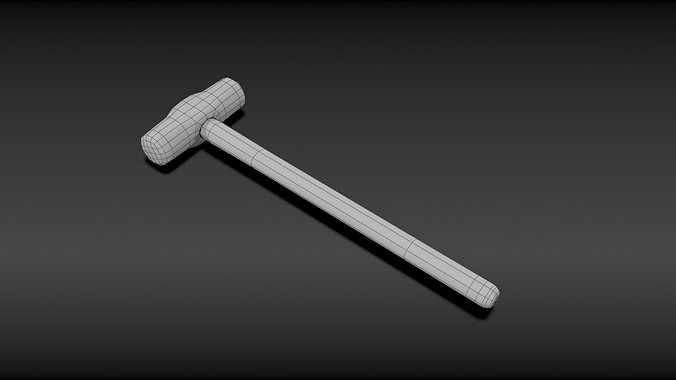Sledge hammer 3d model obj mtl for Gardening tools 3d model