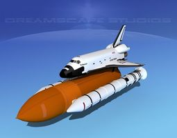 sts shuttle endeavour basic shuttle lp launch 1-4 3d model rigged max obj 3ds lwo lw lws dxf dwg