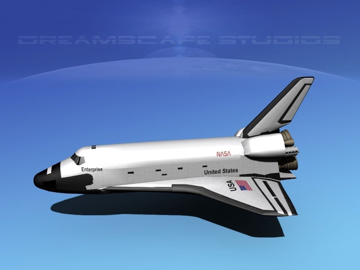 Space Shuttle Enterprise Basic LP 1-1 3D Model rigged MAX ...
