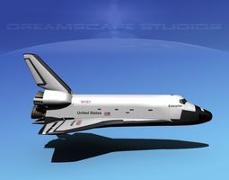 space shuttle enterprise basic lp 1-1  3d model rigged