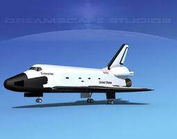 3d model space shuttle enterprise landing lp 1-3  rigged