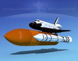 space shuttle enterprise launch lp 1-4  3d rigged