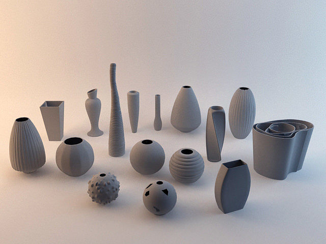 Vases Collection 3d Model Cgtrader