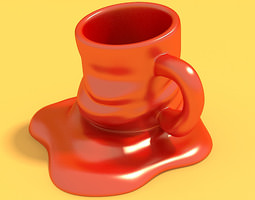 3d print model melted mug