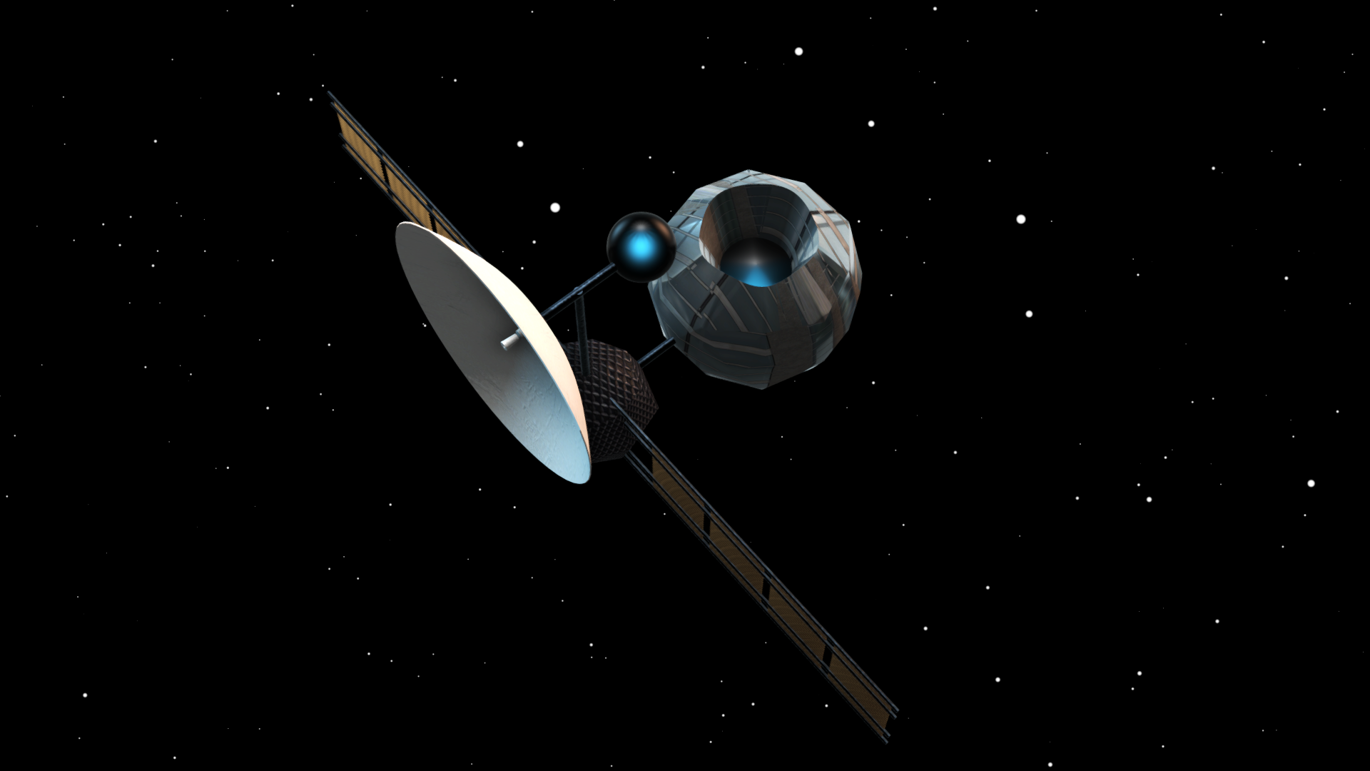 Space Probe 3D Model OBJ 3DS | CGTrader.com