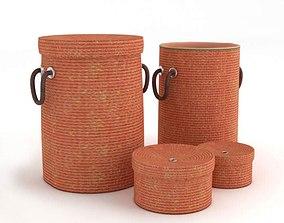 3D model Orange Woven Baskets