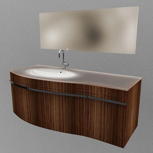 Bathroom set 01 3d model cgtrader for 3d bathroom models