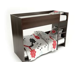 wooden bunk beds 3d model