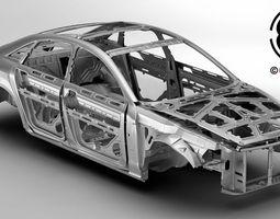 generic car body in white 3d model max obj 3ds fbx c4d lwo lw lws