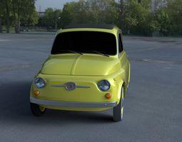 fiat 500d nuova 1960 hdri 3d model obj fbx stl blend dae
