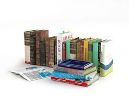 Educational Books Set 3D model