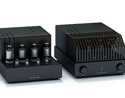 Tube Home Stereo Amplifier 3D model