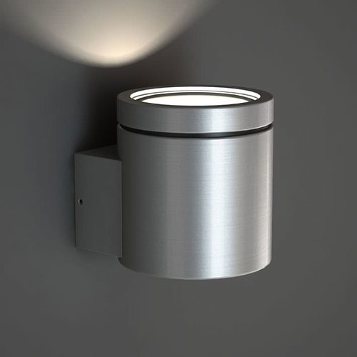 brushed silver wall lamp 3d model obj mtl 1