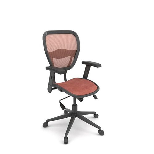 ergomatic adjustable office chair 3d model obj mtl 1