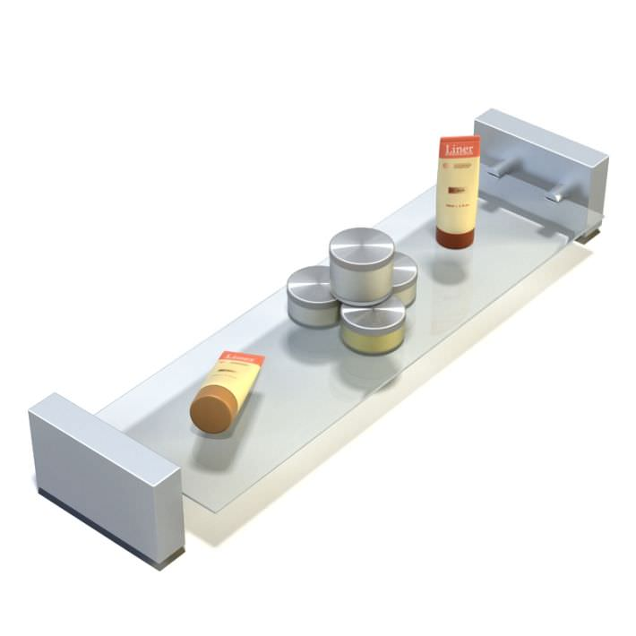 Glass Shelf With Metal