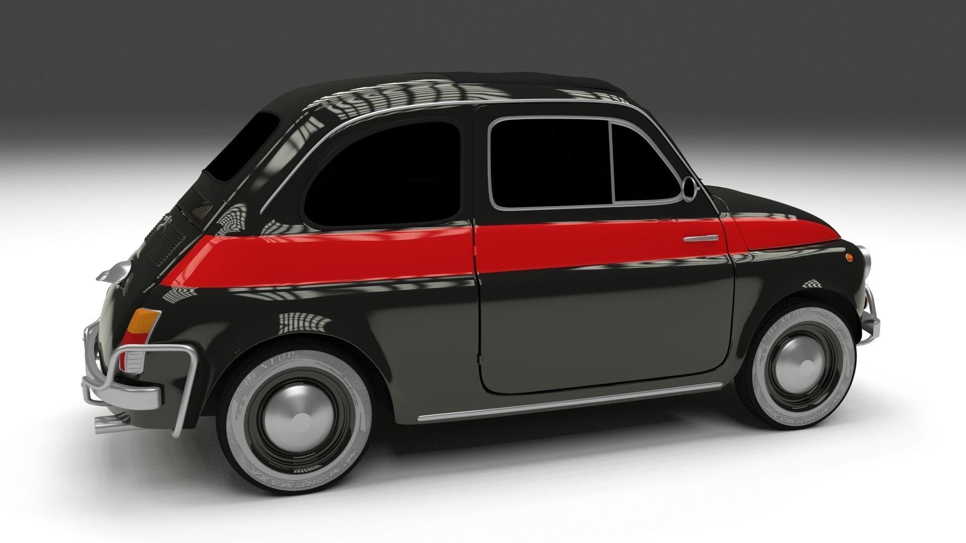 fiat 500 nuova sport 1958 hdri 3d model obj fbx stl blend dae. Black Bedroom Furniture Sets. Home Design Ideas
