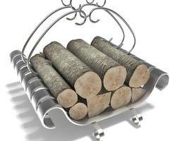 metal fireplace log holder 3d model