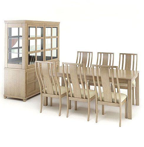 elegant dining room set 3d model obj 1