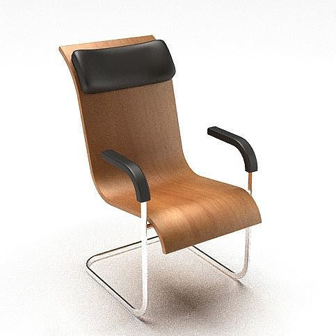 wooden office chair 3d model cgtrader