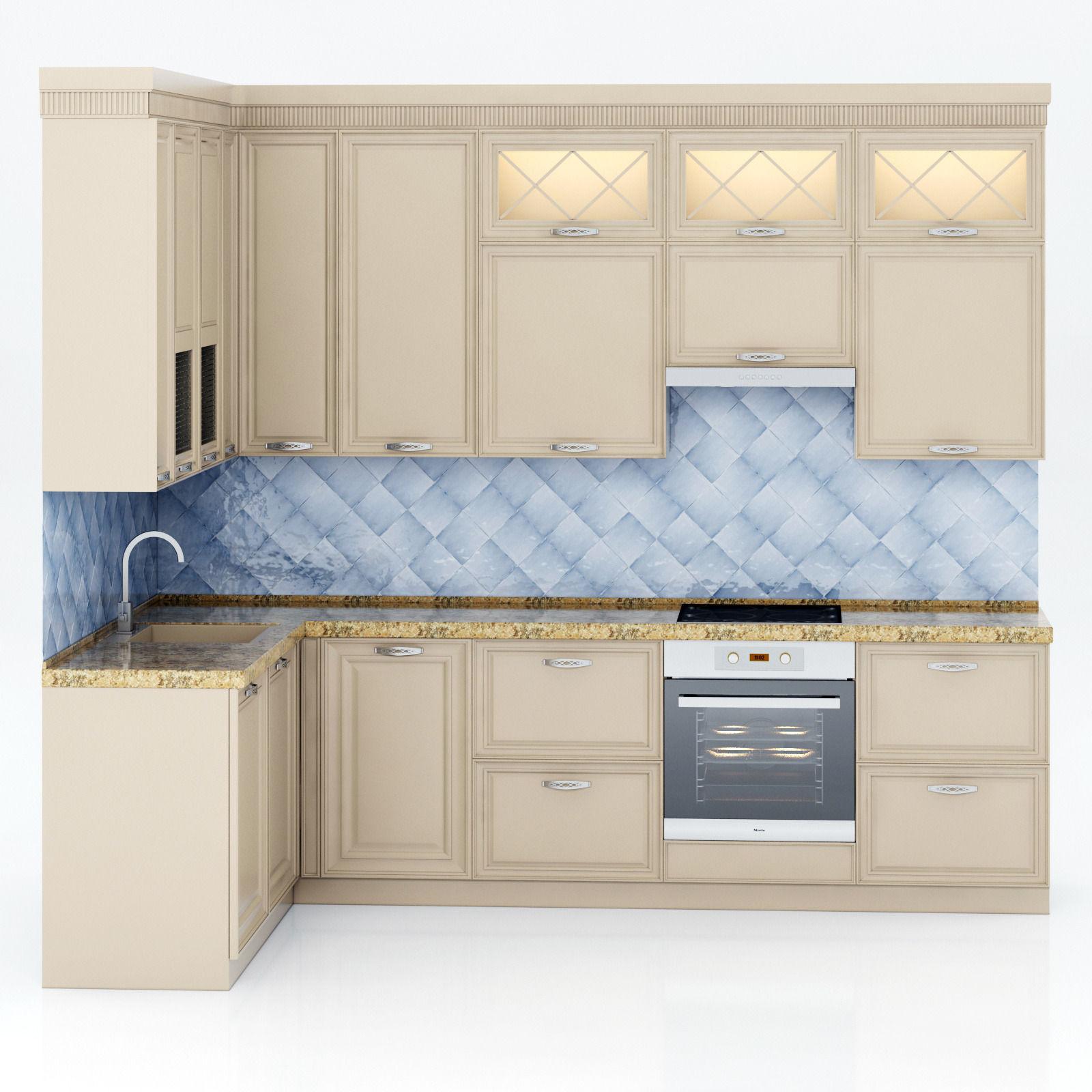 ... Kitchen Set 3d Model Max Obj Fbx Mtl 2 ...