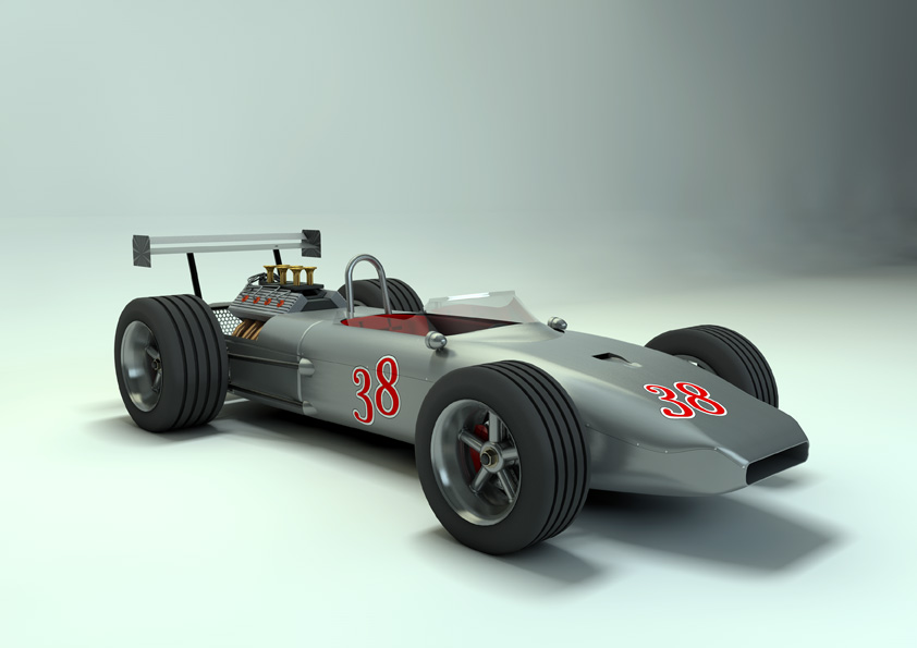 Race Car old style 3D | CGTrader
