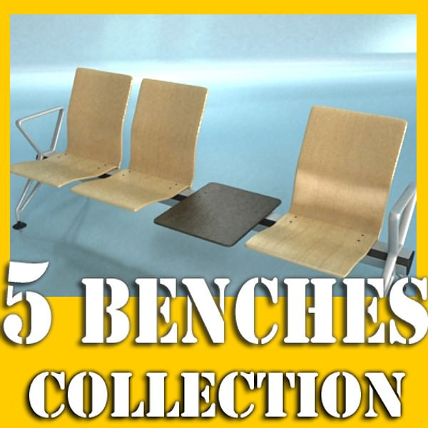 Incredible Connected Seats Waiting Room 3D Model Unemploymentrelief Wooden Chair Designs For Living Room Unemploymentrelieforg