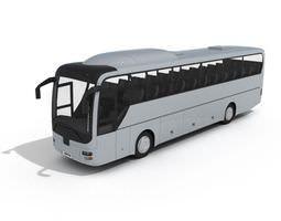 3d model white coach bus