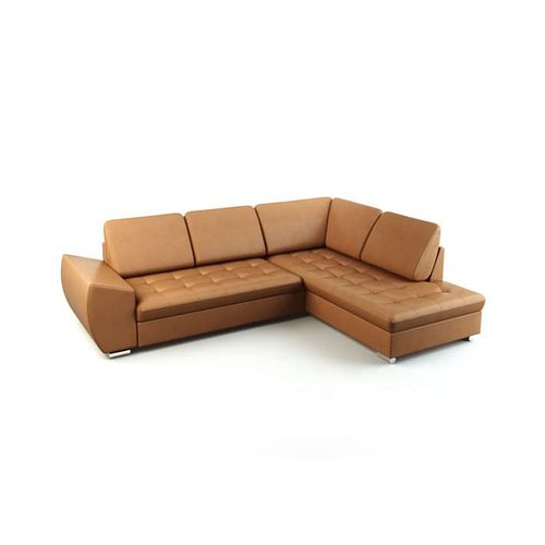Tan Leather Sofa Couch 3D Model