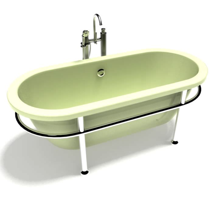 3D model Old Fashioned Bath Tub | CGTrader
