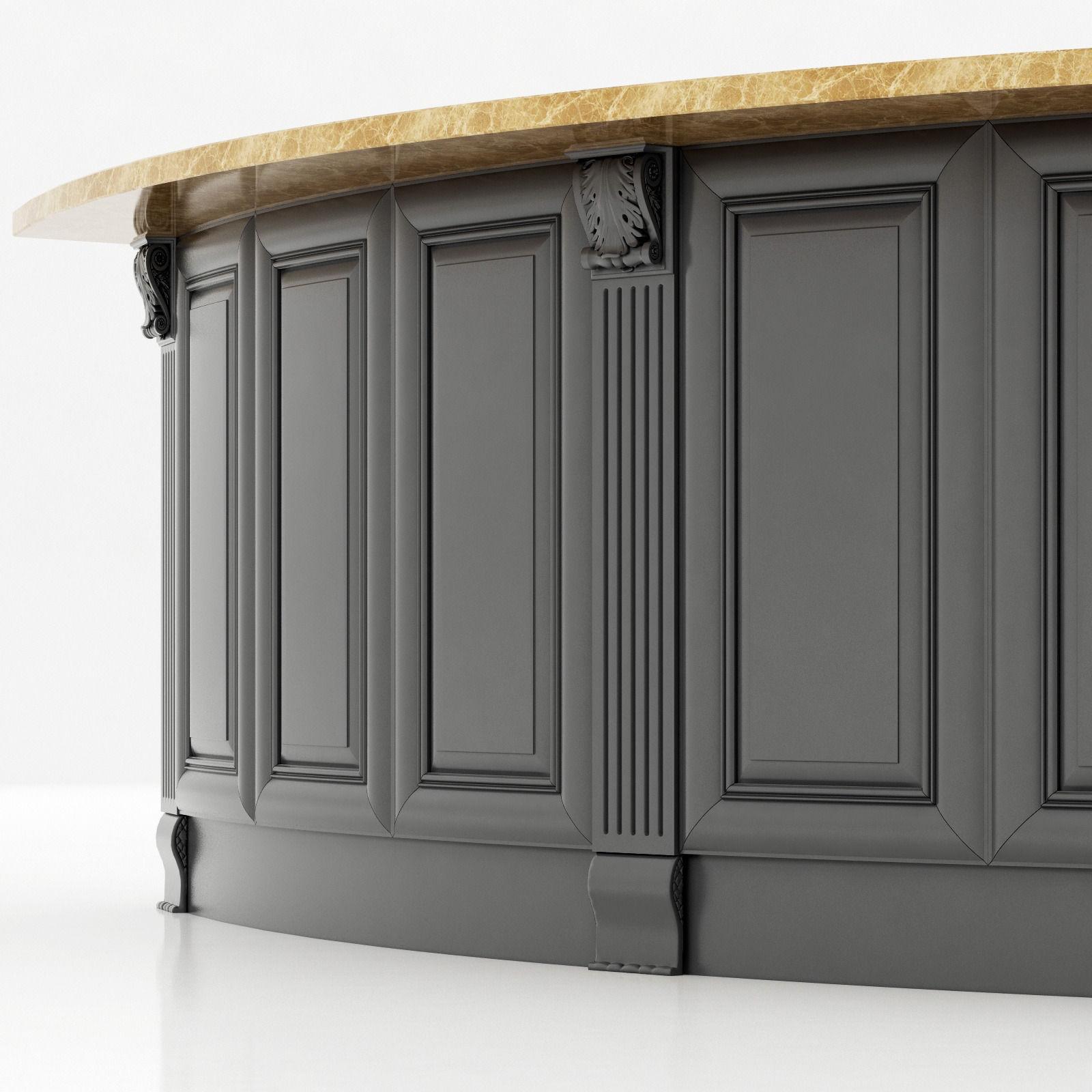 Kitchen Island Cabinet 3 3D