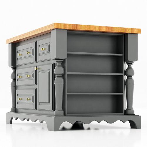 Lyn Design Kitchen Island Model Max Obj Fbx Mtl
