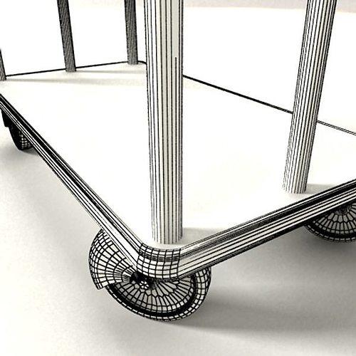... Hotel Luggage Cart High Detail 3d Model Max Obj 3ds Fbx Mtl Mat 6 ...
