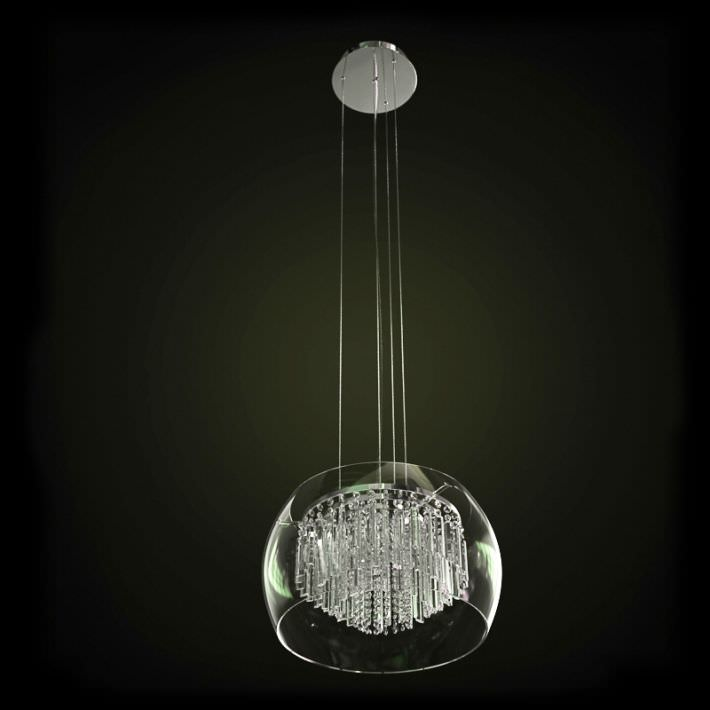 Glass Chandelier Hanging Lamp 3D model | CGTrader