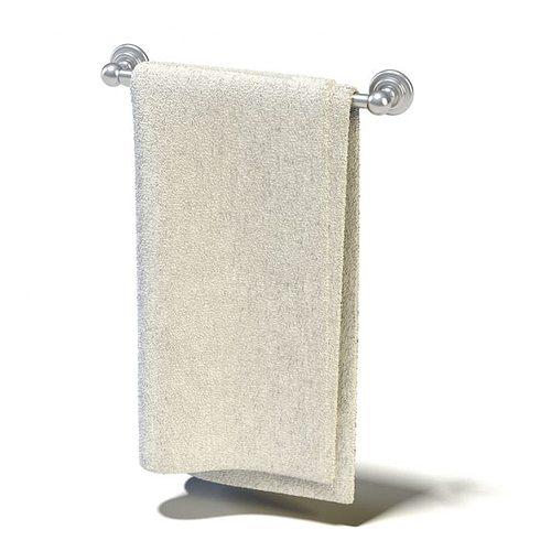 Towel rack 3d model for 3d bathroom models