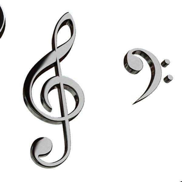 3d Musical Symbols Cgtrader