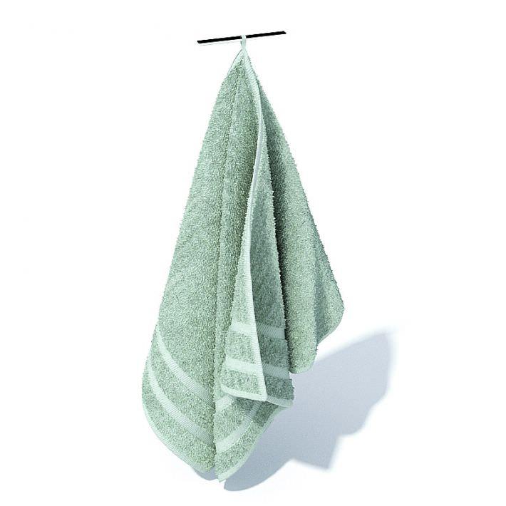 Blue Hanging Hand Towel 3d Model 1