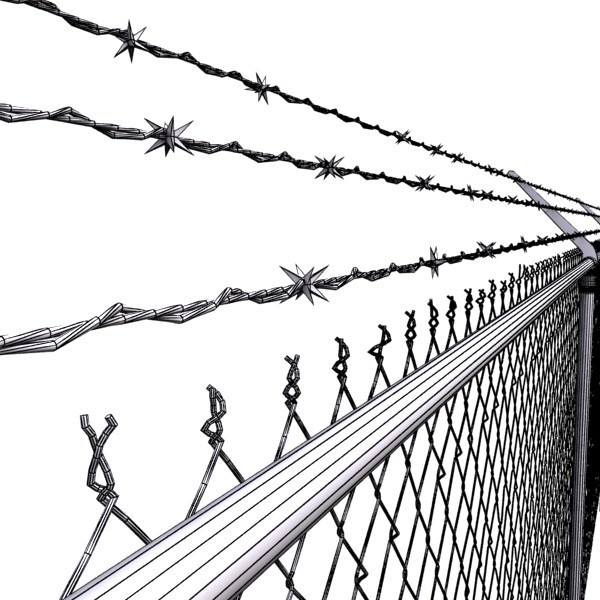 Chain Link Fence Drawing bob wire prison fence drawing prison wire fence design • apoint.co