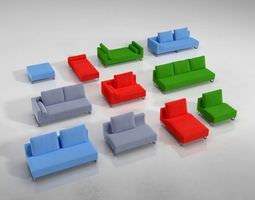 Colored Sofas 3D