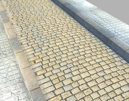 Realistic Old Road High Res 5000 x 3000 3D model