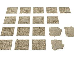 3D Sand And Stone Floor Pavement Tiles