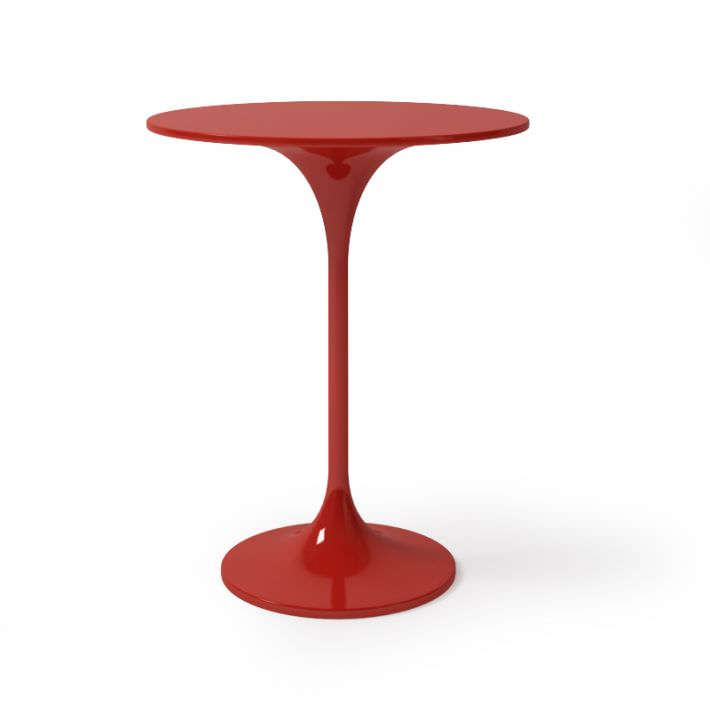 Red Round Bar Table 3d Model Obj 1