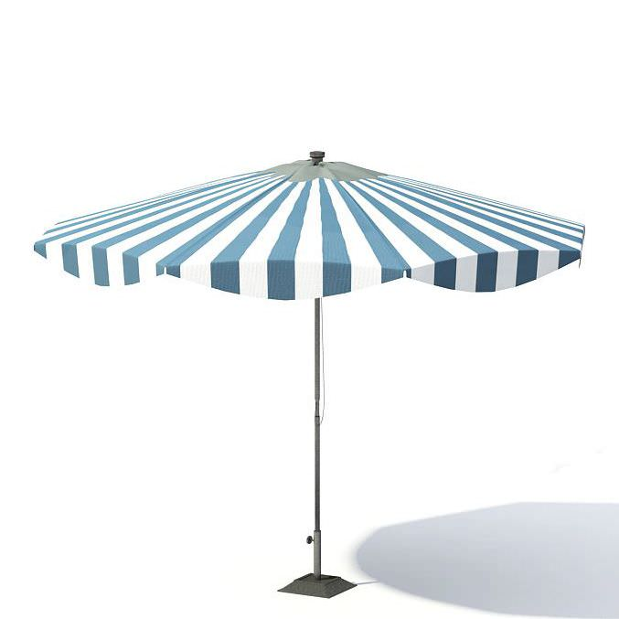Garden umbrella 3d model for Outdoor furniture 3d warehouse