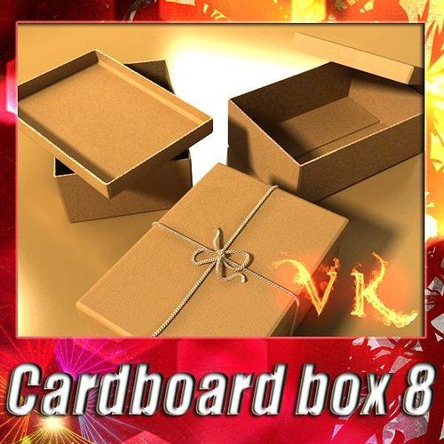 photorealistic cardboard box 3d model max obj mtl 3ds fbx mat 1