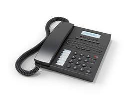 Black Office Phone 3D model