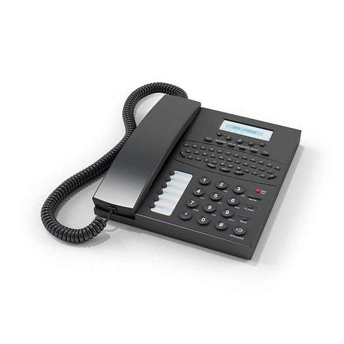 black office phone 3d model obj mtl 1