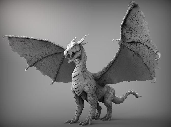 Zbrush Dragon 3D Model CGTrader